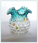 Click here to enlarge image and see more about item V9511: VICTORIAN ENAMELED BLURINA VASE