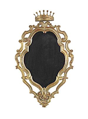 19th Century Italian Gilded Palladio Mirror With a Crow (Image1)