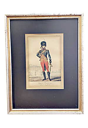 Early 19th Century French Hand Colored Framed Print