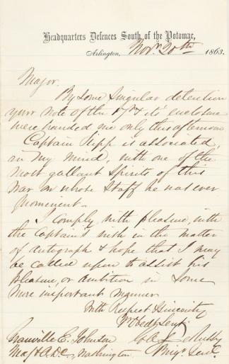 Autograph General Gustavus A. De Russy (Image1)
