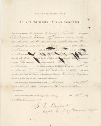 Autograph General Silas Casey & General Francis Fessenden (Image1)