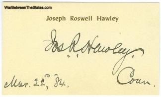 Autograph, General Joseph R. Hawley (Image1)