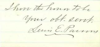 Autograph, Lewis E. Parsons, Provisional Governor Alabama (Image1)