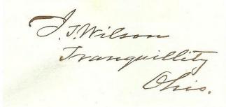 Autograph John T. Wilson (Image1)