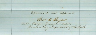 Autograph General Thomas H. Ruger (Image1)