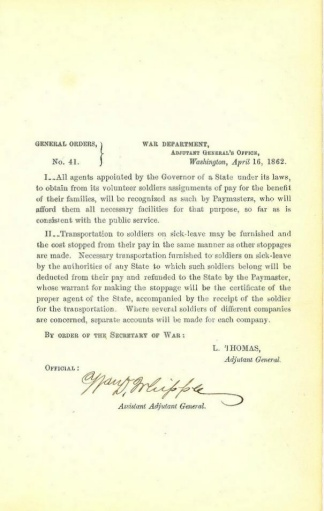 Autograph General William D. Whipple