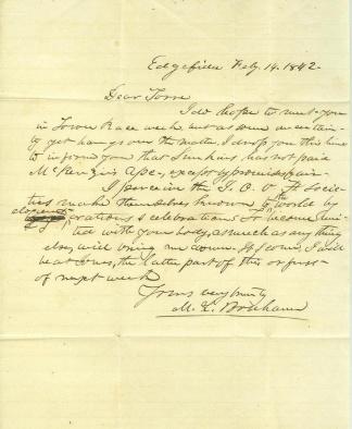 Autograph General Milledge L. Bonham (Image1)