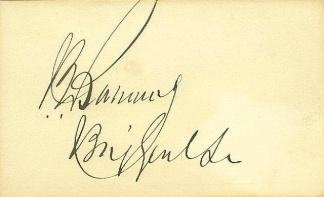 Autograph General John G. Barnard (Image1)