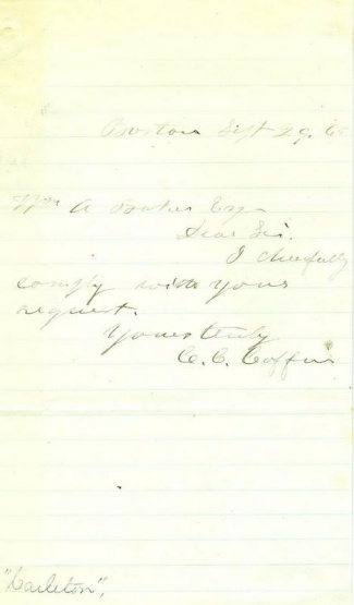 Autograph Charles C. Coffin