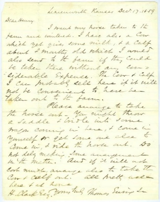 Autograph, General Thomas Ewing, Jr. (Image1)