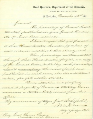 Autograph General William M. Dunn (Image1)
