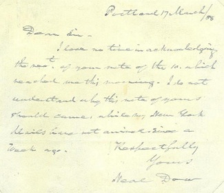 Autograph General Neal Dow (Image1)