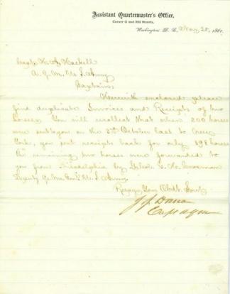Autograph General James J. Dana (Image1)