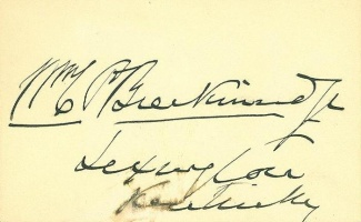 Autograph Colonel William C.p. Breckenridge
