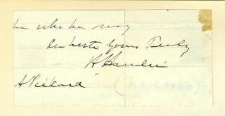 Autograph Vice President Hannibal Hamlin (Image1)
