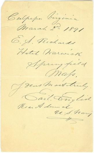 Autograph Rear Admiral Earl English (Image1)