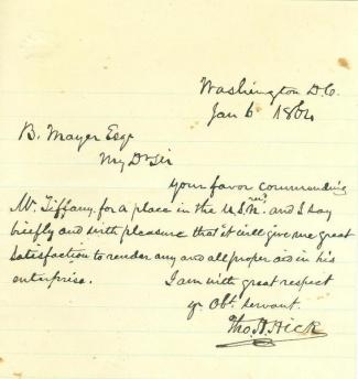 Autograph Thomas H. Hicks (Image1)