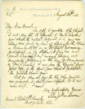 Autograph General Thomas J. Henderson (Image1)