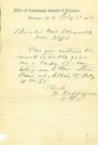 Autograph General William Hoffman (Image1)
