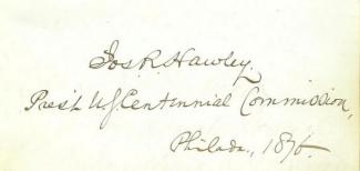 Autograph General Joseph R. Hawley (Image1)