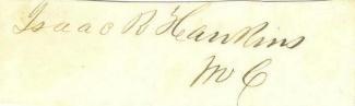 Autograph General Isaac R. Hawkins (Image1)