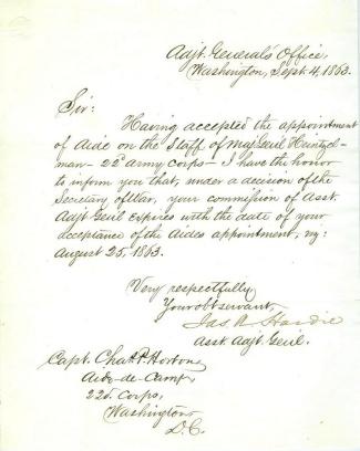 Autograph General James A. Hardie (Image1)