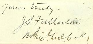 Autograph General Joseph S. Fullerton (Image1)