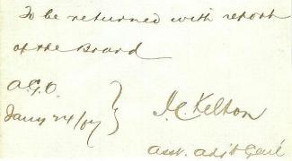 Autograph General John C. Kelton (Image1)