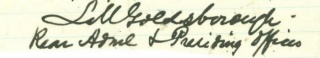 Autograph Rear Admiral Louis M. Goldsborough