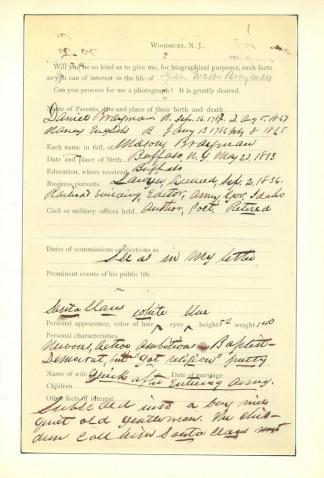 Autograph General Mason Brayman (Image1)