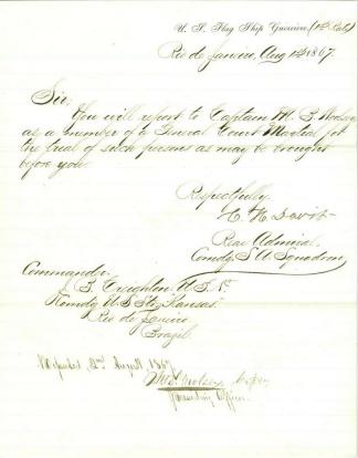 Autograph Admiral Charles H. Davis, U.S. Navy (Image1)