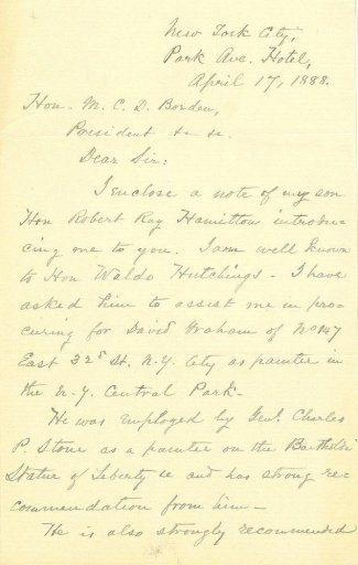 Autograph General Schuyler Hamilton (Image1)