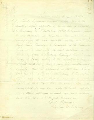 Autograph General Francis Fessenden (Image1)