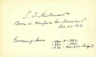 Autograph Samuel J. Kirkwood (Image1)