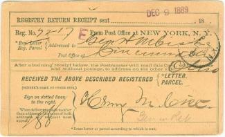 Autograph General Henry M. Cist (Image1)