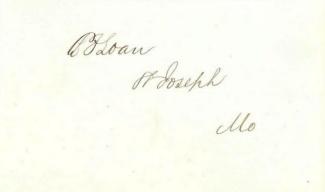 Autograph Benjamin F. Loan (Image1)