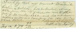 Autograph General Henry L. Chipman (Image1)