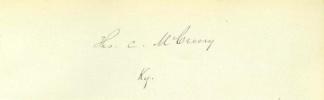 Autograph Thomas C. McCreery (Image1)