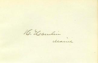 Autograph Hannibal Hamlin (Image1)