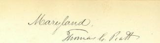 Autograph Thomas G. Pratt (Image1)