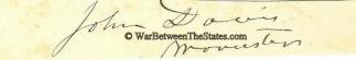 Autograph John Davis (Image1)