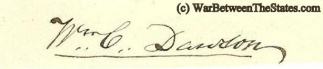 Autograph, William C. Dawson