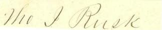 Autograph Thomas J. Rusk (Image1)