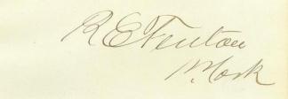 Autograph Reuben E. Fenton (Image1)