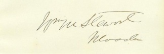 Autograph William M. Stewart