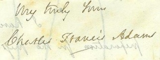 Autograph Charles Francis Adams