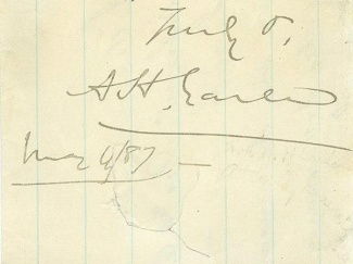 Autograph Augustus H. Garland (Image1)