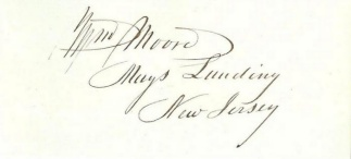 Autograph, William Moore