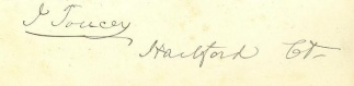 Autograph Isaac Toucey (Image1)