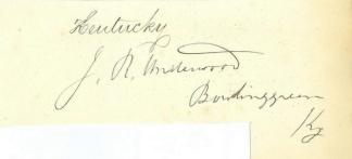 Autograph Joseph R. Underwood (Image1)